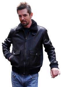 Coach Mens Leather Mens Bomber Bomber Sale Military Jacket