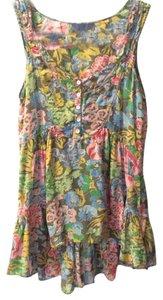 Liebeskind Top Green with floral print