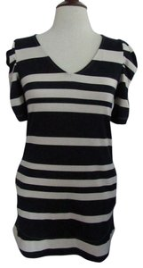 Anthropologie short dress Ivory & Navy Stripes on Tradesy