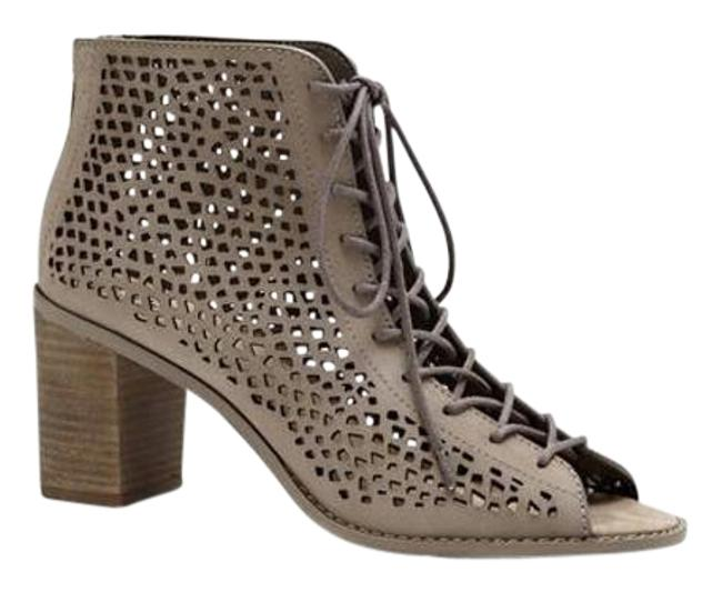 Item - Smoke Cloud Taupe Tulina Lace-up Perforated Boots/Booties Size US 10 Regular (M, B)