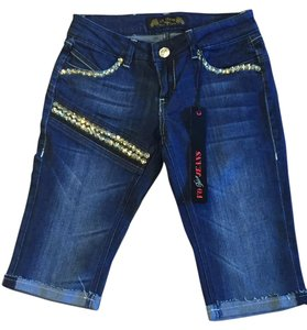 Virgin Only Bermuda 25 Jewels Denim Shorts