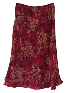 Jonathan Martin Skirt Red, black, cream