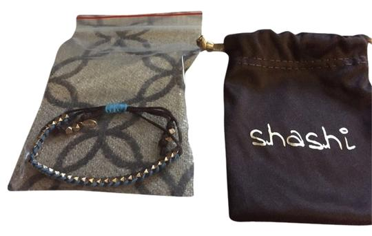 Shashi NEW Shashi Chocolate Brown Teal And Gold Bracelet Unique