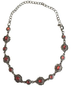 Vintage red stone necklace