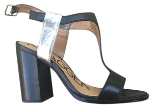Kelsi Dagger Black and Silver Sandals