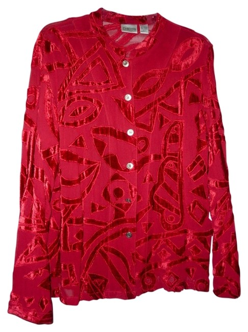 Preload https://item2.tradesy.com/images/chico-s-dark-red-dressy-sheer-and-velveteen-blouse-or-jacket-night-out-top-size-12-l-17076-0-0.jpg?width=400&height=650