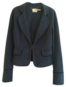 Juicy Couture Military-inspired Brass Buttons gray Blazer