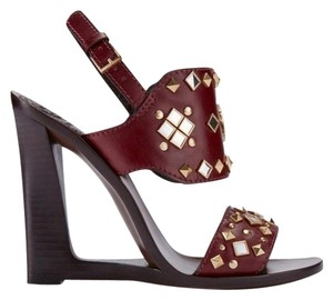 Tory Burch Studded Red Sandals