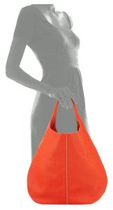 Neiman Marcus Poppy Zip Tote in Burnt orange