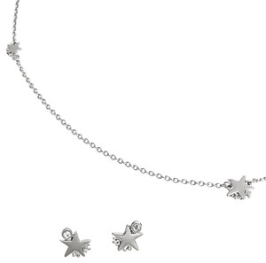 Coach Coach shooting star necklace &earrings set