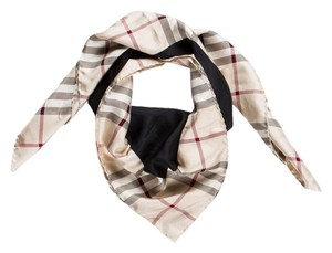 Burberry Black, red, beige Burberry Nova check plaid print oversized scarf