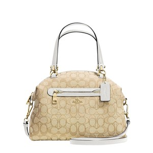 Coach Hobo 36311 Satchel in Chalk white signature