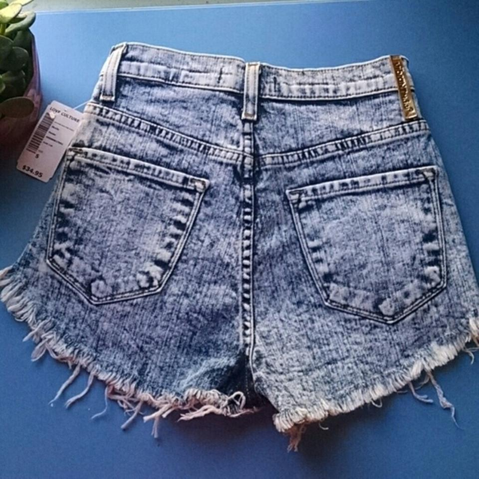10d501d984 Love Culture Blue Vibrant Miu High Waist From Shorts Size 4 (S