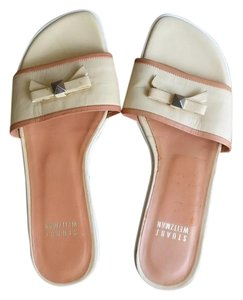 Stuart Weitzman Weitztman Flats Yellow and cream Sandals