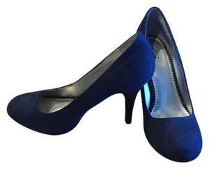 Fioni Heel Blue Navy Pumps