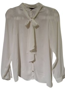 Forever 21 Sheer Casual Top Off White