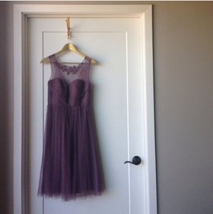 BHLDN Purple Nylon Tulle Lace; Polyester Lining Chloe Formal Bridesmaid/Mob Dress Size 4 (S)