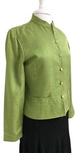 Adrianna Papell Silk Jacket Brocade Look Top Lime Green