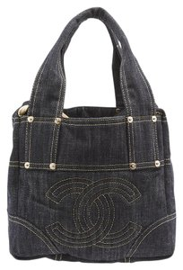 Chanel Denim Gold Accents Tote in Blue