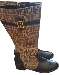 Fendi brown monogram Boots