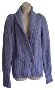 Patrizia Pepe Wool Blend Made In Italy Violet Cardigan
