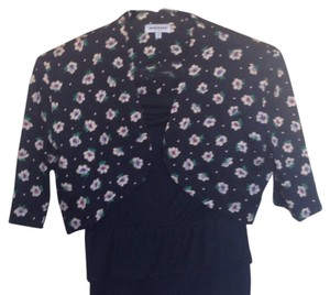 Other Bolero Floral Made In Italy Black Jacket
