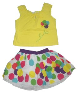 Wonder Kids And Skirt Skirt Size 3t Size 3t Kids Clothing Girls Clothing Set Top Yellow Multi