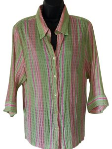 Missoni Button Down Button Down Shirt pink and green