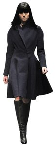 Lanvin A-line Made In France Wool Blend Trench Coat