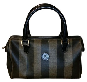Fendi Satchel in Black and Green