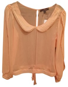 Almost Famous Clothing Top Peach