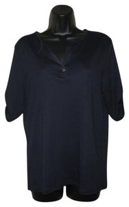 Lauren Ralph Lauren V-neck Stretchy Cotton Sweater