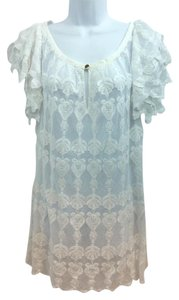 ALICE by Temperley short dress White Lace Shift on Tradesy