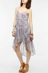 Ecote short dress Purple Multi High-low Chiffon Spaghetti Strap Babydoll on Tradesy