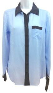 Equipment Silk Blue Blouse Button Down Shirt