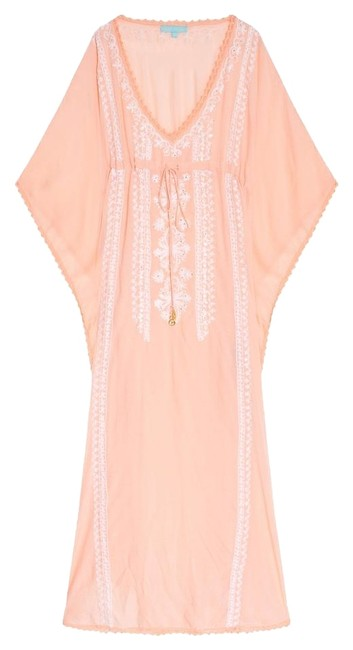 Item - Peach and White Marigay Kaftan Cover-up/Sarong Size OS (one size)