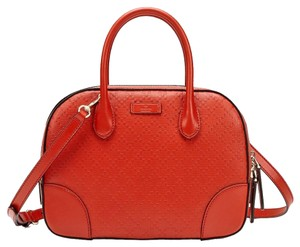 Gucci Leather Top Handle 354224 Tote in Burnt Orange