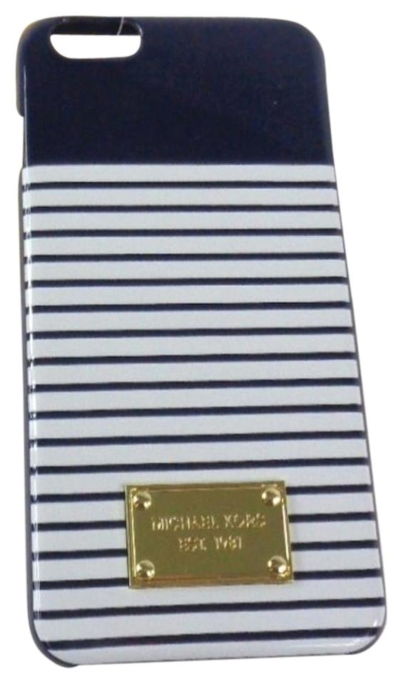 new products 488d3 1a4f2 Michael Kors Navy Blue/White 32s6gell2r Nautical Theme Hard Cell Phone  Cover Case For Iphone 6 Or 6s Plus Tech Accessory 60% off retail