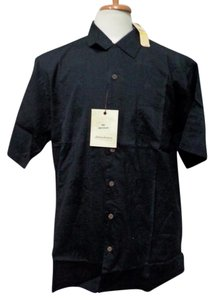 Tommy Bahama $69.00 - NWT - TOMMY BAHAMA Black 100% Cotton Button Front Shirt - Size L