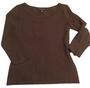 Banana Republic Office Quarter-sleeve Top Brown