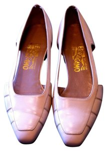 Salvatore Ferragamo Made In Italy Cut-out Bone Flats