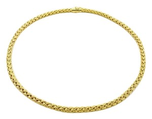 Tiffany & Co. TIFFANY & CO. Tiffany Co. 18k Yellow Gold Woven Chain Necklace