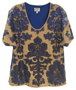 Tracy Reese Top Blue, Tan