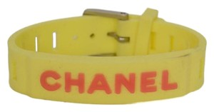 Chanel Chanel Vintage '99 Yellow Rubber Watch Band Bracelet