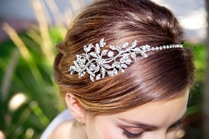 Erica Koesler Swarovski Headband With Side Crystals Decor