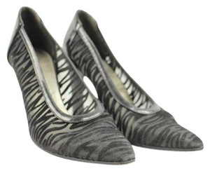 Charles Jourdan Zebra Black Pumps