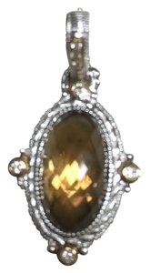 Judith Ripka Judith Ripka Sterling Silver, 18K Gold, Honey Citrine Enhancer Pendant