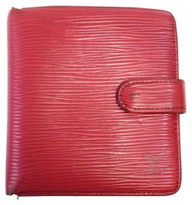 Louis Vuitton Today's Giveaway #7334 Red Epi leather Compact Wallet