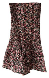 Wex short dress Pink Floral Strapless on Tradesy