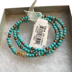 Nordstrom Set Of Turquoise Bracelets In Gift box Cara Brand